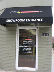 Curtis Equipment showroom entrance